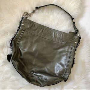 Coach Zoe Patent Leather Hobo Shoulder Bag